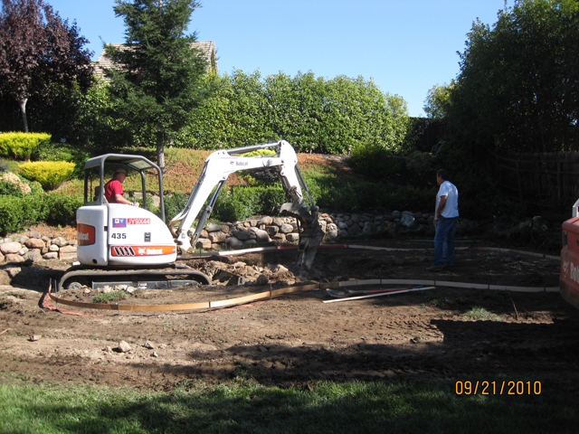 Pool construction - digging